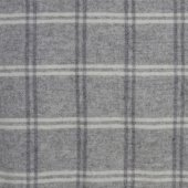 British Native Breed 100% Wool Throw Light Grey Overcheck
