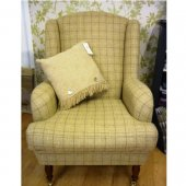 Wing Chair in Abraham Moon Slate